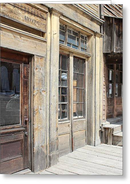 False Front Buildings Greeting Cards - Virginia City Storefronts Greeting Card by Mark Eisenbeil