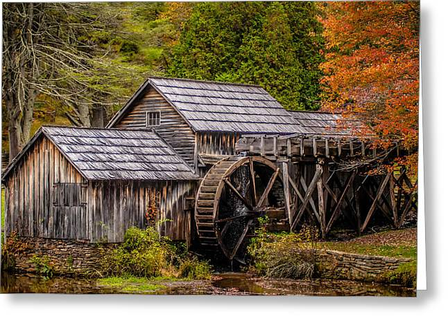 Grist Mill Greeting Cards - Virginia Mabry Mill on the Blue Ridge Parkway in the Autumn se Greeting Card by Alexandr Grichenko