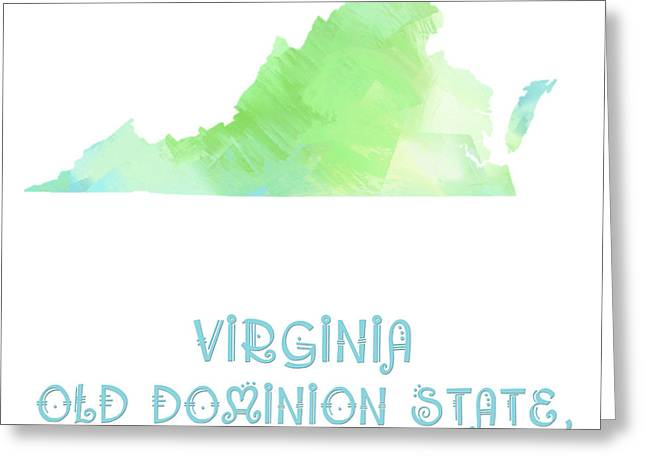 Dominion Greeting Cards - Virginia - Old Dominion State - Mother State Greeting Card by Andee Design