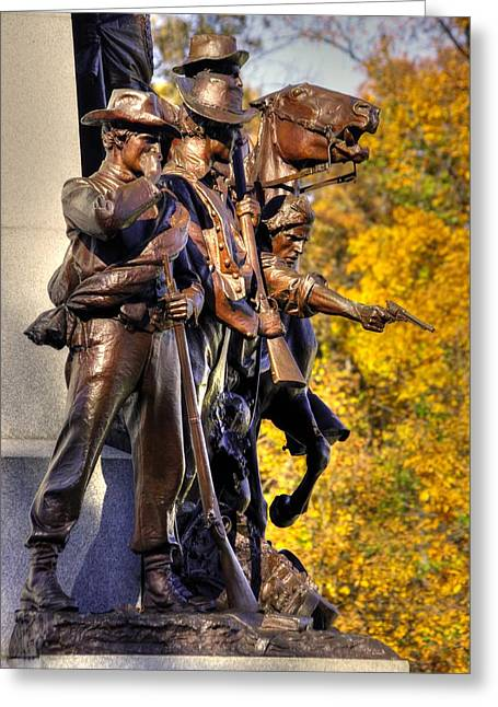 Third Day Of Battle Greeting Cards - Virginia to Her Sons at Gettysburg - War Fighters - Band of Brothers 1A Greeting Card by Michael Mazaika