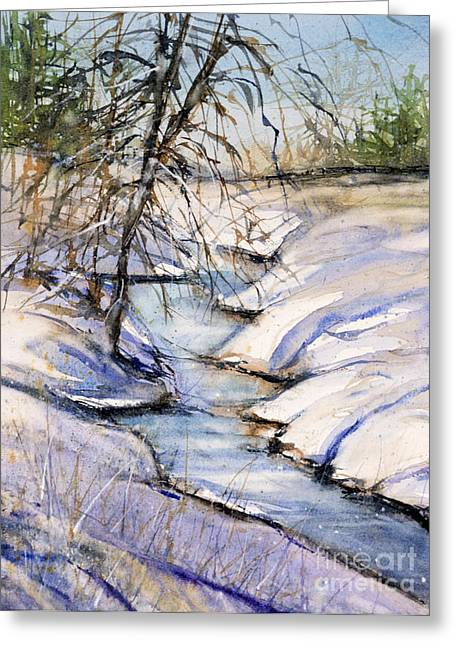 Snowstorm Greeting Cards - Virginia Winterscape Greeting Card by Judith Levins