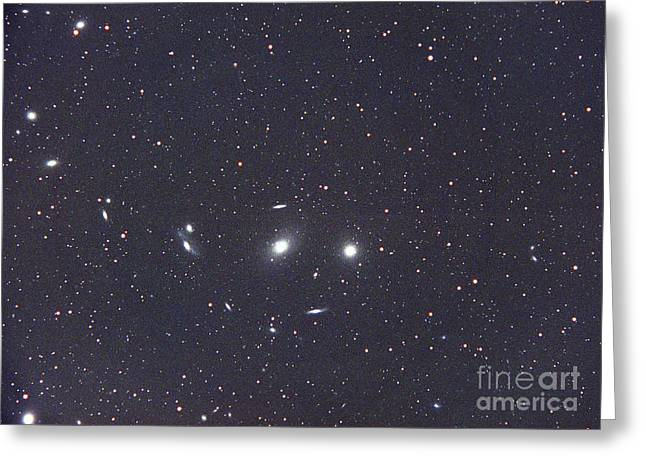 Ngc 4402 Greeting Cards - Virgo Galaxy Cluster Greeting Card by Chris Cook