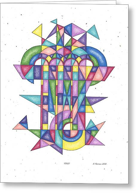 Virgo Zodiac Symbol Greeting Card by Ruthie Ferrone