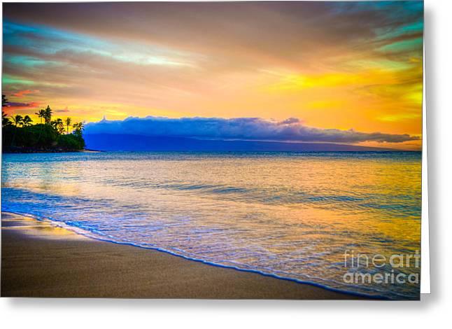 ; Maui Greeting Cards - Vibrant Maui Greeting Card by Kelly Wade