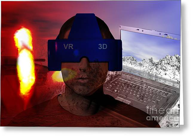Ptsd Greeting Cards - Virtual Reality Therapy Greeting Card by Carol and Mike Werner