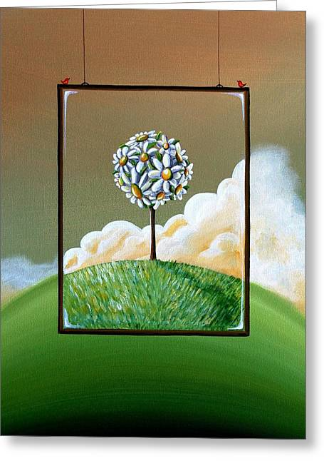 Whimsical Tree Greeting Cards - Virtue Greeting Card by Cindy Thornton