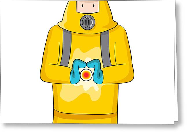 Safety Gear Digital Art Greeting Cards - Virus Containment Greeting Card by John Takai