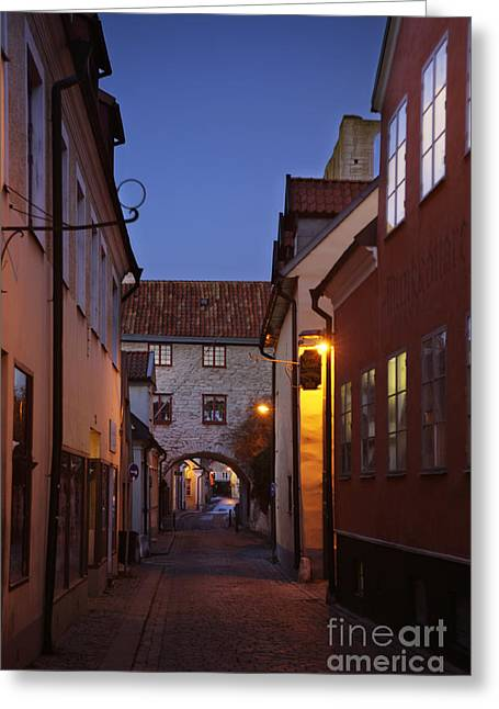 Mystifying Greeting Cards - Visby Evening  Greeting Card by Ladi  Kirn