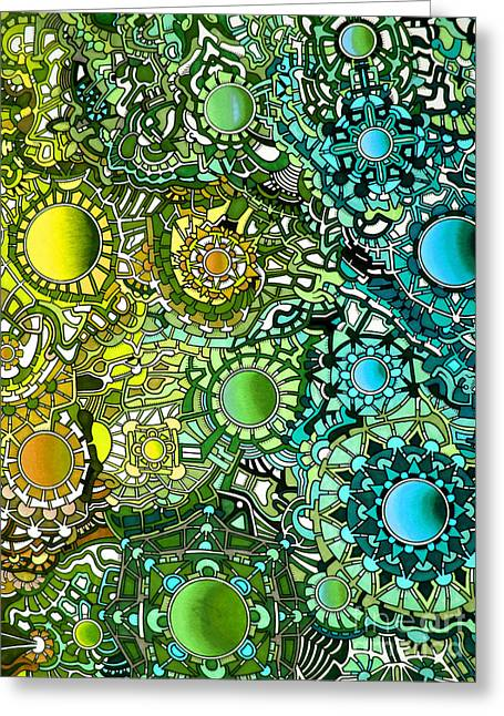 Opposing Forces Greeting Cards - Viscosity variation 18 Greeting Card by Devin  Cogger