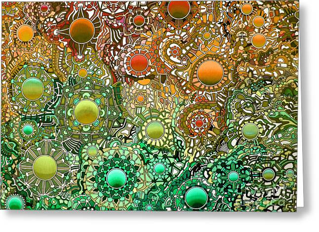 Opposing Forces Drawings Greeting Cards - Viscosity variation 2 Greeting Card by Devin  Cogger