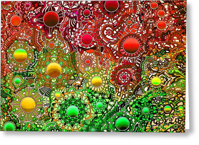 Opposing Forces Drawings Greeting Cards - Viscosity variation 7 Greeting Card by Devin  Cogger