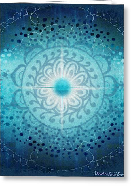 Christine Bryant Digital Greeting Cards - Vishudda - Chakra 5 Greeting Card by Christine Louise Bryant