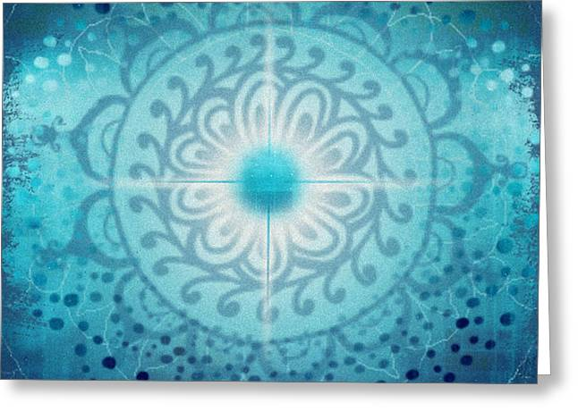 Vishudda - Chakra 5 Greeting Card by Christine Louise Bryant