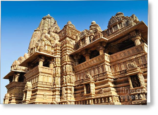 Mahadeva Greeting Cards - Vishvanatha Temple Khajuraho India Greeting Card by Rudra Narayan  Mitra