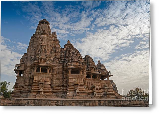 Mahadeva Greeting Cards - Vishvanatha Temple Khajuraho India UNESCO world heritage site Greeting Card by Rudra Narayan  Mitra