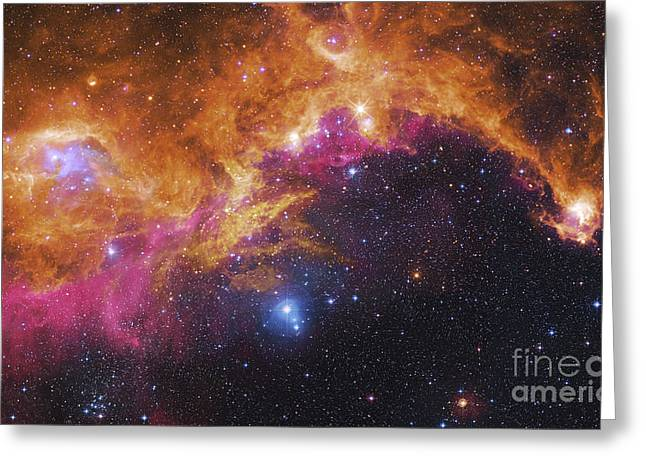 Twinkle Greeting Cards - Visible Light-infrared Composite Of Ic Greeting Card by Robert Gendler