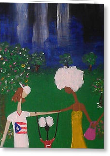 African-american Greeting Cards - Visible Love-Family Series VI Greeting Card by Anthony Lewis
