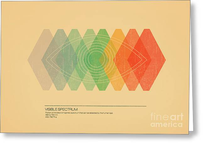 Info Greeting Cards - Visible Spectrum Greeting Card by Budi Satria Kwan