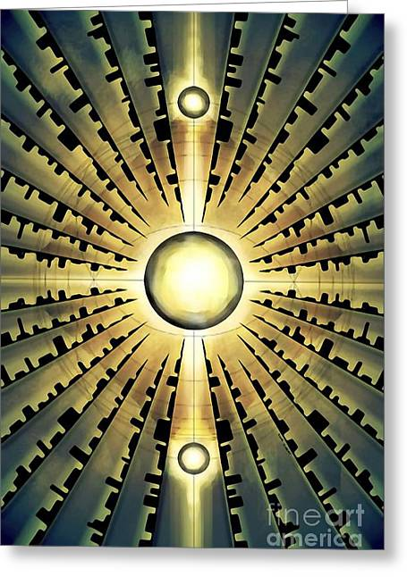 Radial Symmetry Greeting Cards - Vision Greeting Card by Brian Gilbert