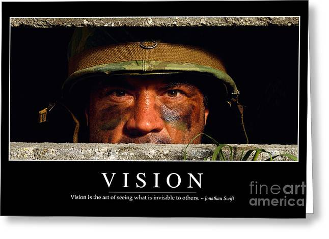 Perspiration Greeting Cards - Vision Inspirational Quote Greeting Card by Stocktrek Images