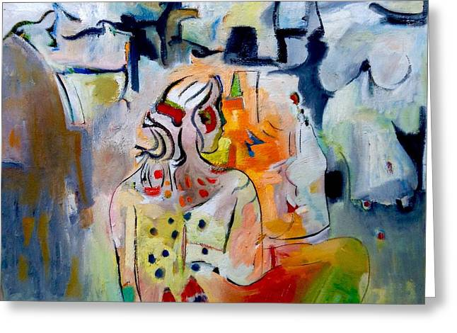 Spiritual Portrait Of Woman Greeting Cards - Vision of the Girl Greeting Card by Chris Easley