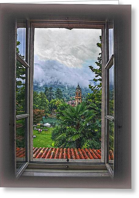 Vision Through The Window Greeting Card by Hanny Heim