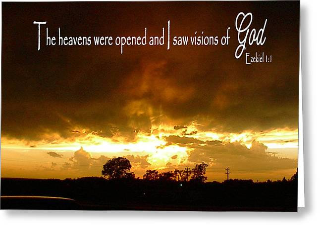 Visions Of God Greeting Card by Robyn Stacey