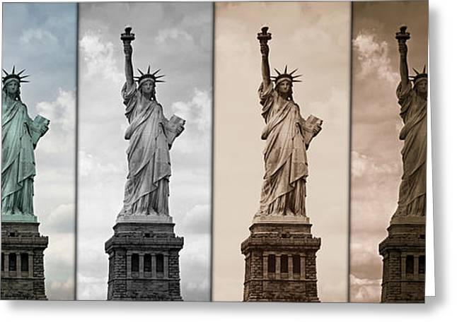 Historic Statue Greeting Cards - Visions of Liberty Greeting Card by Stephen Stookey