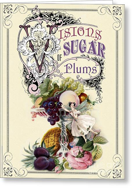 Banquet Digital Art Greeting Cards - Visions of sugar plums Greeting Card by Cindy Garber Iverson