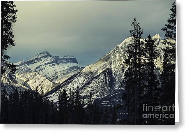 Canadian Rockies Greeting Cards - Visions Prelude Greeting Card by Evelina Kremsdorf