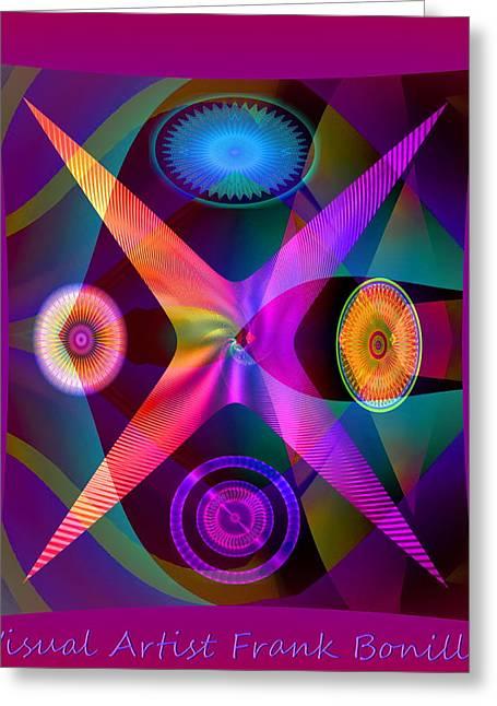 Visions Greeting Card by Visual Artist  Frank Bonilla