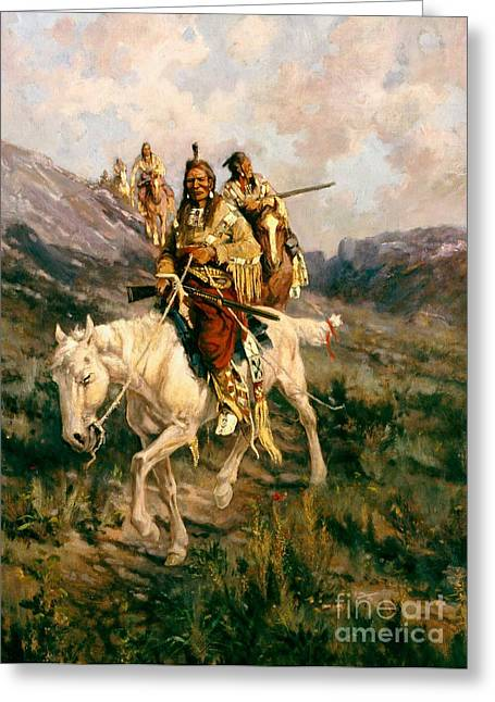 Nomads Greeting Cards - Visit To Another Tribe Greeting Card by Edgar Samuel Paxson