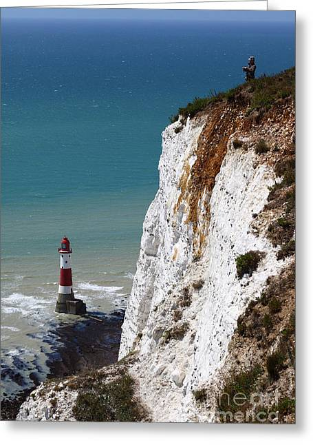 Spectacular Ocean Vistas Greeting Cards - Visiting Beachy Head Greeting Card by James Brunker
