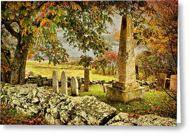 Headstones Greeting Cards - Visiting History Greeting Card by Nikolyn McDonald