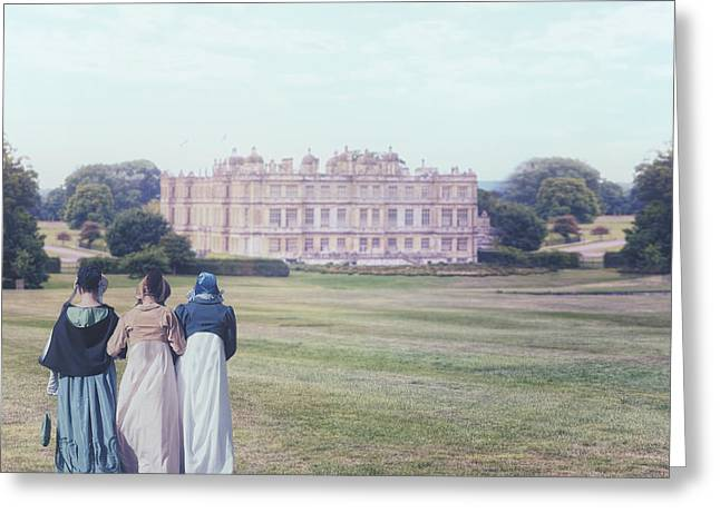 Period Photographs Greeting Cards - visiting Mr Darcy Greeting Card by Joana Kruse