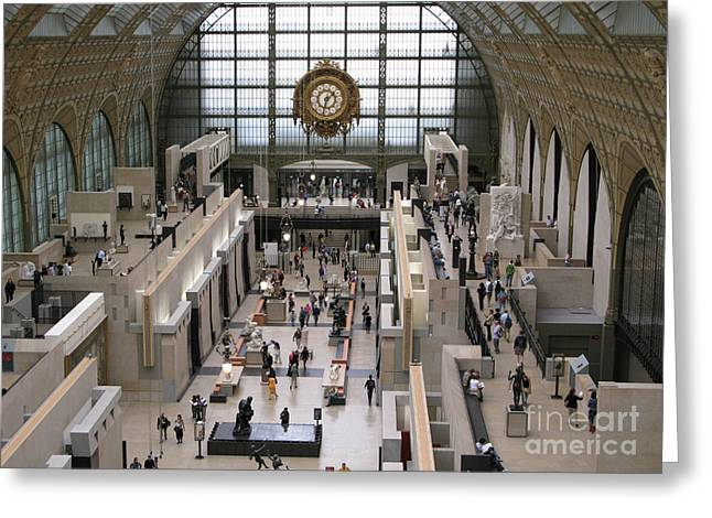 Visiting The Musee D'orsay Greeting Card by Ann Horn