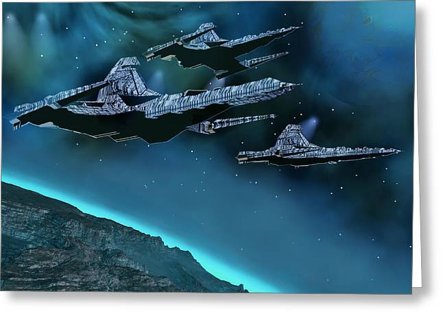 Jet Star Digital Art Greeting Cards - Visitors Greeting Card by Corey Ford