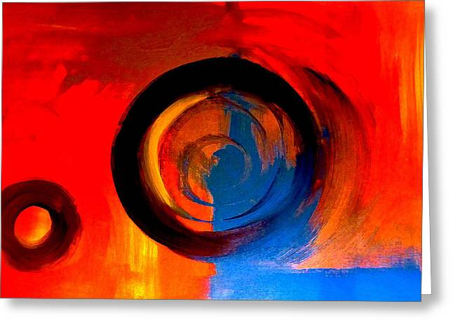 Abstract Movement Greeting Cards - Visitors Greeting Card by Lisa Kaiser