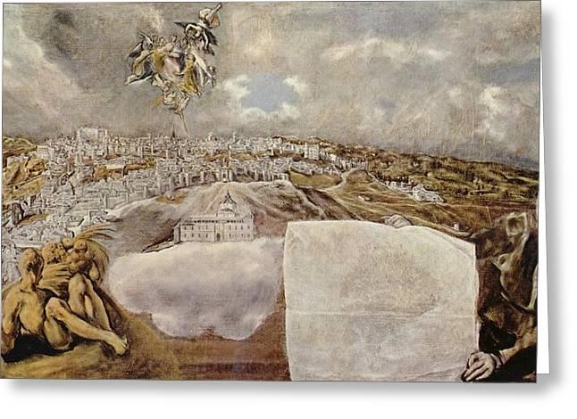 Popular Beliefs Greeting Cards - Vista de Toledo - the View of Toledo Greeting Card by El Greco