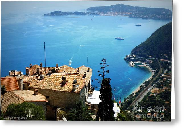 Vista From Eze Greeting Card by Lainie Wrightson