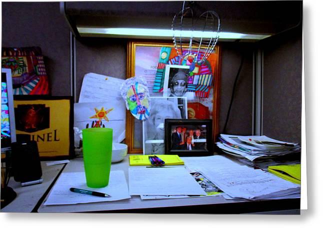My Space Greeting Cards - Vista Number 3 Office Greeting Card by Allen N Lehman