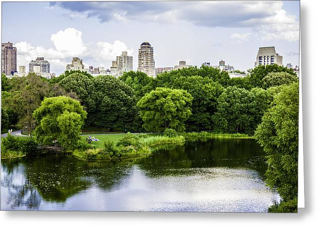 New York Vista Greeting Cards - Vista Rock View 1 - Central Park - Manhattan Greeting Card by Madeline Ellis