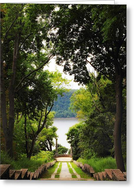 River View Digital Art Greeting Cards - Vista View Greeting Card by Jessica Jenney