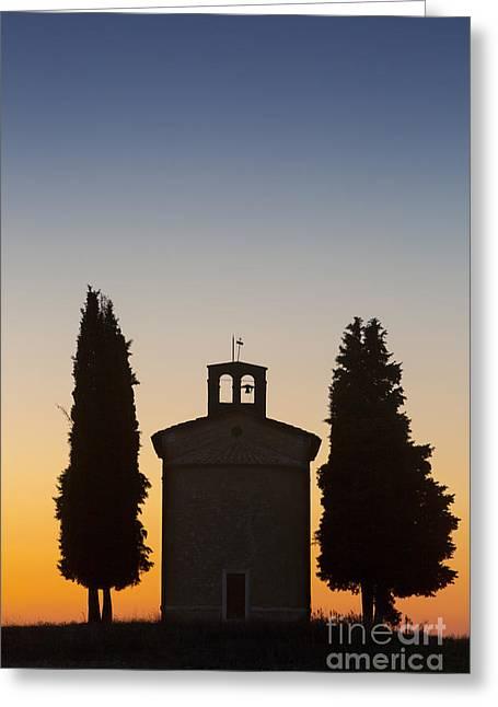 Italian Sunset Greeting Cards - Vitaleta Twilight Greeting Card by Brian Jannsen