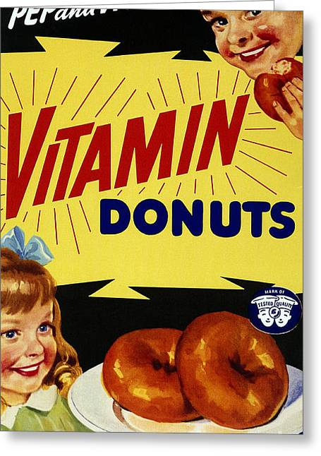 Vitamin Donut Greeting Card by Science Source