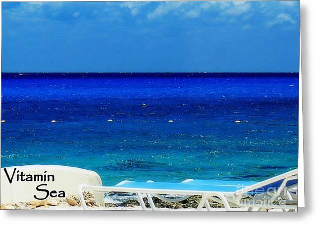Vitamin Sea Greeting Card by Patti Whitten