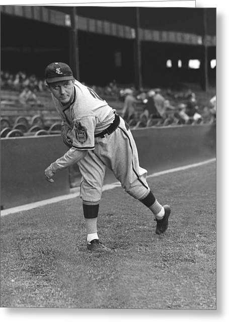 Baseball Game Greeting Cards - Vitautis Casimirus Vito Tamulis Greeting Card by Retro Images Archive