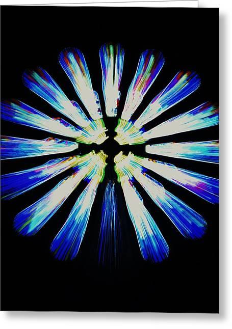 Magic Pyrography Greeting Cards - Vitral magico 2 Greeting Card by Erick  Mora
