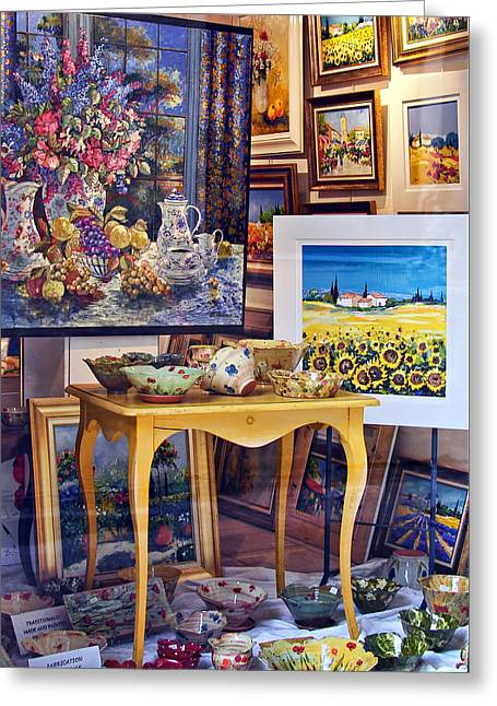 Cadeau Greeting Cards - Vitrine en Provence Greeting Card by Nikolyn McDonald