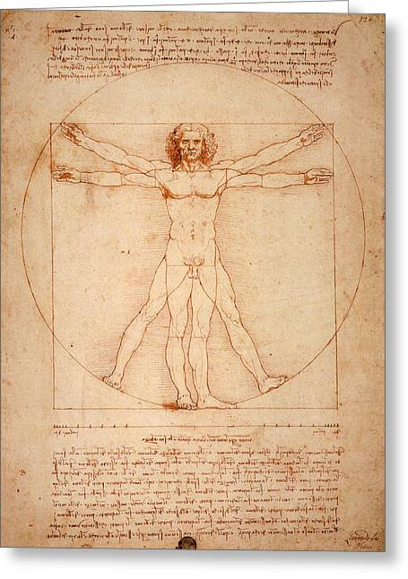 Bill Cannon Greeting Cards - Vitruvian Man Greeting Card by Bill Cannon